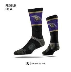 Strideline Spartan sock - black